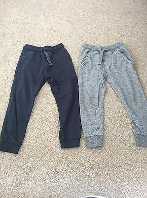 2 Next boys jogger bottoms. Navy and grey. age 5yrs