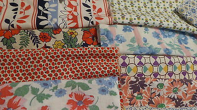 "Lot of 25 Vintage Feedsack 5""+++Squares Blocks Pcs Quilt top CRAFTS Dolls FABRIC"