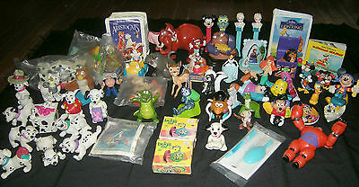 LOT of 60 Disney Toy Restaurant Premiums:Bug's Life, Frozen,Goofy Movie & more