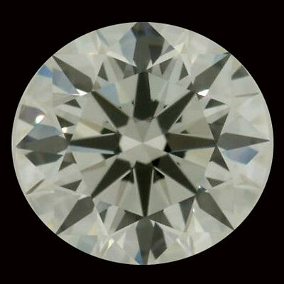 3.23 ct VS1/9.76 mm GENUINE OFF WHITE COLOR ROUND CUT LOOSE REAL MOISSANITE