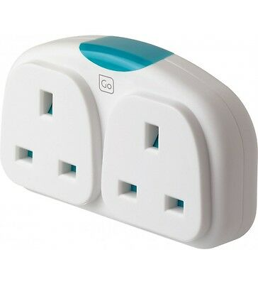 Design Go - ADAPTOR DUO -UK to Europe double travel plug