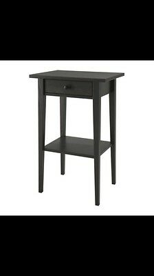 Ikea Hemmed Black Side Table