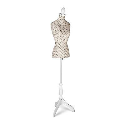 Dressmakers Manequin Manikin 36/38 Hard Styrofoam Tailor Torso Adjustable Height