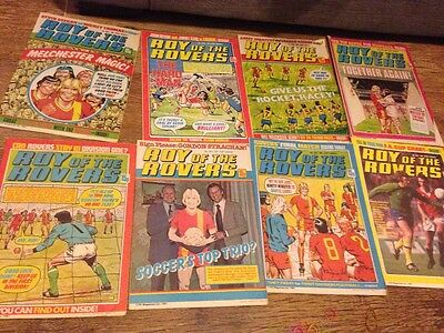 roy of the rovers magazines books bundle 1881 vintage football top trio soccers