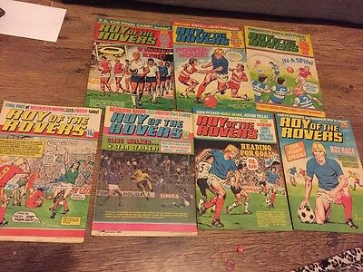 roy of the rovers comic books bundle football magizine vintage