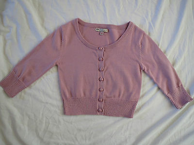 Marks and Spencer Indigo girl's dusky pink cotton cardigan, age 7-8 years