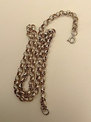 Silver Old Belcher Chain Good Solid 18 Inches