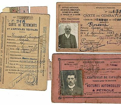 ///////......3 documents Guerre  14-18 et 1939-45.....///////