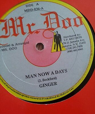 "Ginger man now a days  12""vinyl dancehall"