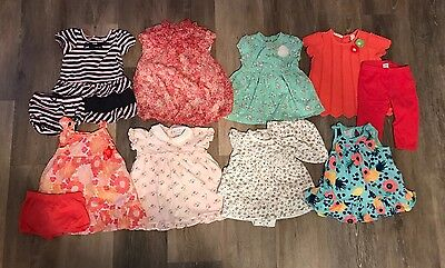 Huge Lot Of 61 Pieces Of Baby Girl Clothing. Size: 6 Months, 9 and 6-12 Months