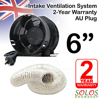 "6""/150mm HYDROPONIC INLINE EXHAUST FAN DUCTING INTAKE VENTILATION KIT EXTRACTOR"