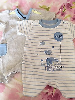 Baby Boys Summer Rompers/sleepsuits 0-3 Months