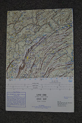 1961 LAKE ERIE Canada & US ~ ONC 309 ~ USAF OP NAV Chart / MAP~Ex Cond ~ Vintage