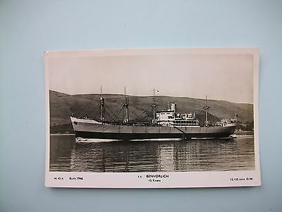 s.s.'BENVORLICH', built 1946 - old plain back card