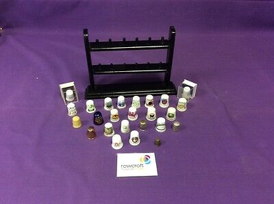 Small Job lot of Thimbles and Rack