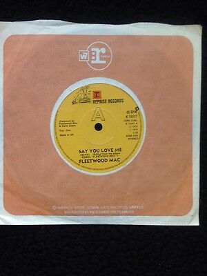 "Fleetwood Mac - Say You Love Me / Monday Morning 7"" Vinyl Reprise K 14447 (1976)"