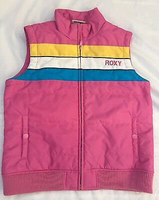 ~ ROXY ~ Pink Puffer Vest. Size 10 (girls). Excellent Condition!