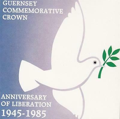 Guernsey 1985 Liberation Anniversary Commemorative £2 Crown Coin BU in Folder