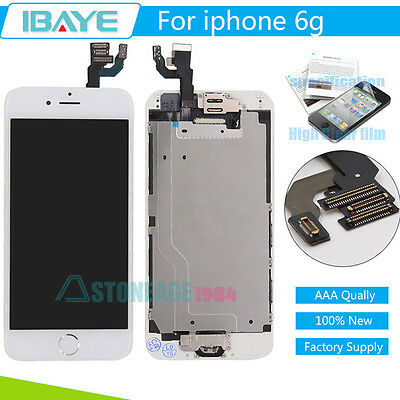"""iPhone 6 4.7"""" Replacement Screen Digitizer LCD Touch white & Home Button Camera"""
