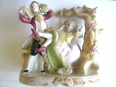 Victorian Ornament Couple With Swing Lace