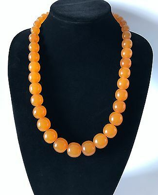 Old Baltic Amber beads necklace, weight 89 grams, Art Deco period, Baltic region