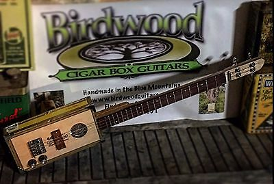 "Cigar Box Guitar. MADE TO ORDER ""4 String LIGHTNING BOY"" from Birdwood Guitars"