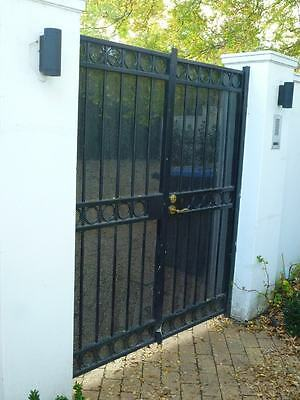 GARDEN GATES, BLACK WROUGHT IRON AND STEEL GATES,removed, 18C