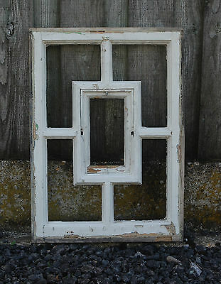 A PETITE PINE WINDOW FRAME RECLAIMED SUITABLE FOR UPCYCLING ref 678