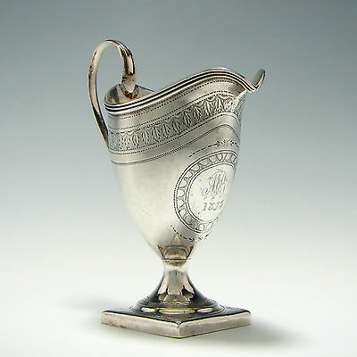 Georgian Silver Cream Jug By Bateman London 1799