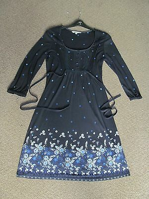 Beautiful Fat face floral navy blue ladies dress size 10.
