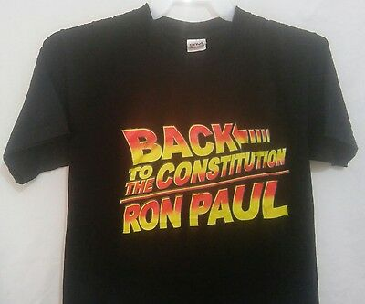 Vintage RON PAUL Back To The Constitution Mens M Back to the Future T Shirt