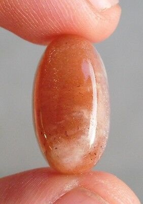11.15 Cts Optimal 100% Natural Red Sunstone 19X11X7 Mm Cab Gemstone