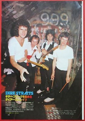 Dire Straits Mark Knopfler 1979 Clipping Japan Magazine Os 4A