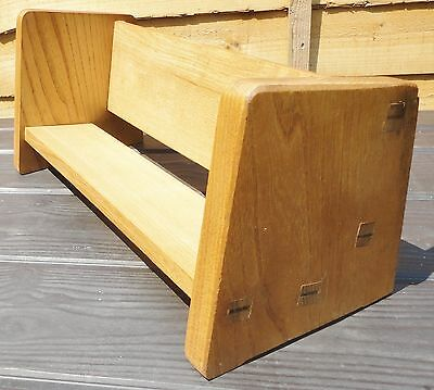 A Vintage Hand Crafted Wooden Book Trough