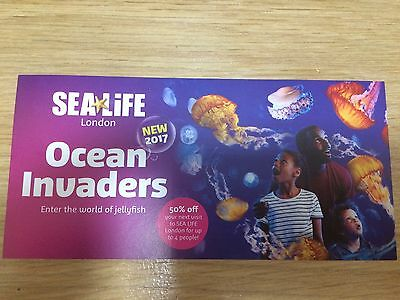 Sea Life London Ocean Invaders World Of Jellyfish Voucher 50% Off 4 People 🐠🐚