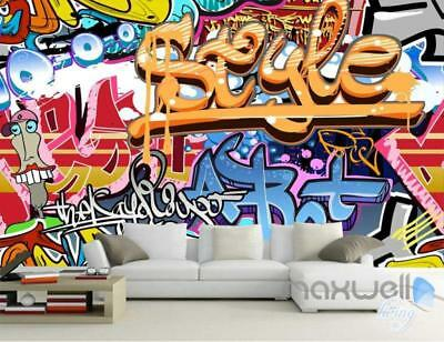 3D Graffiti Style Wall Art Mural Paper Print Decals Decor Wallpaper