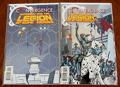 Convergence Superboy and the Legion of Super-Heroes #1-2 Set DC Comics