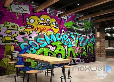 3D Graffiti Cosmopolitan Wall Murals Paper Print Decals Decor Wallpaper