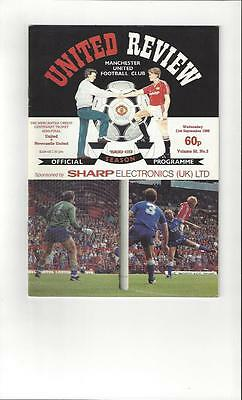 Manchester United v Newcastle United Mercantile Semi Final Programme 1988/89