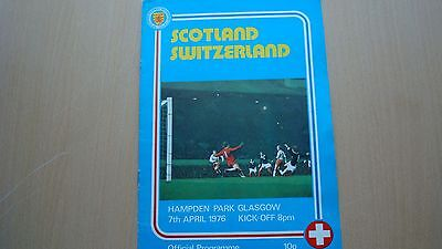 Scotland V Switzerland Apr 1976