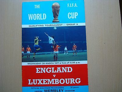 England V Luxembourg Mar 1977