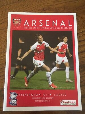 Arsenal Ladies v Birmingham City Ladies 4 Oct 2015