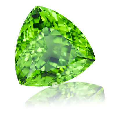 6mm TRILLIANT-FACET STRONG-GREEN NATURAL AFGHAN PERIDOT GEMSTONE