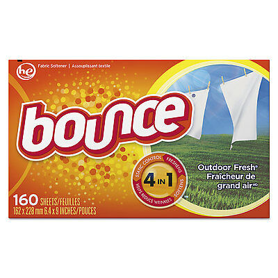 Bounce Fabric Softener Sheets 160 Sheets/Box 6 Boxes/Carton 80168CT