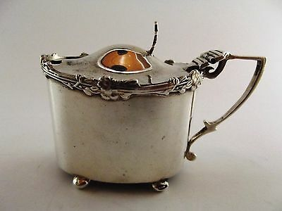Antique Silver Mustard Pot Birmingham 1908 Ref 307/6
