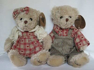 "Couple de Peluche de collection ""Ester et Keld"" de Louise Mansen - Ours 32 cm"