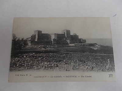 Thessaloniki Salonica Greece The Citadel Printed Postcard C1910