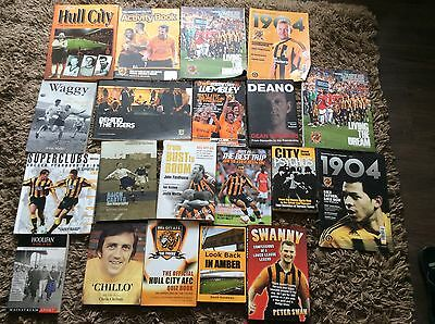 hull city afc football  books x 20 the tigers  memorbillia
