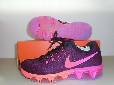 New Nike Womens Air Max Tailwind 8 Black Noble red Running Shoes sz 7.5