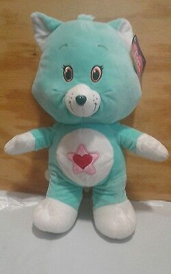 "13"" NEN 2017 ""Proud Heart Cat"" Care Bear Cousin plush. NWT smoke free"